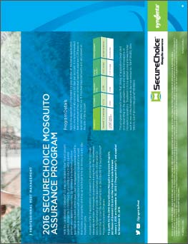 SecureChoice Mosquito Assurance Program Sheet