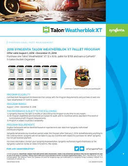 Talon Weatherblok XT Pallet Program